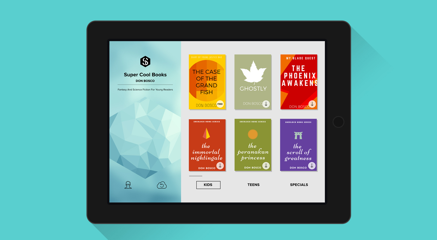 The new Super Cool Books iPad app